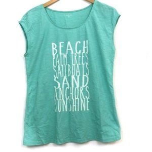 GARNET HILL Green Blue Beaches Summer Graphic Tee
